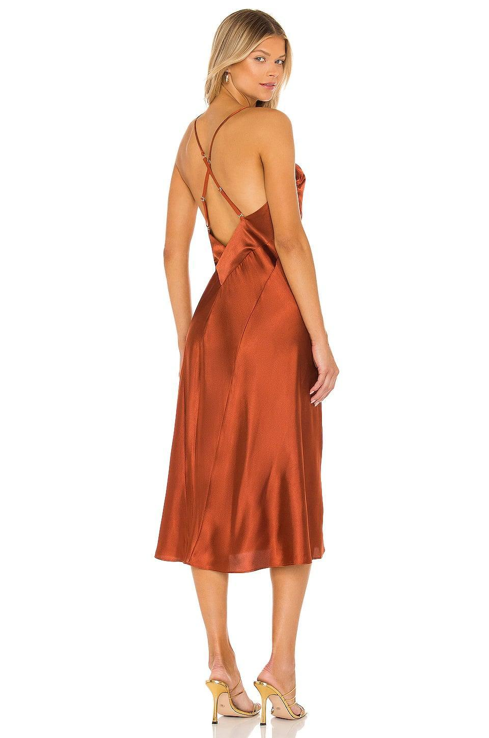 <p>We love the low back on this <span>Hah Give A Midi Slip Dress</span> ($198).</p>