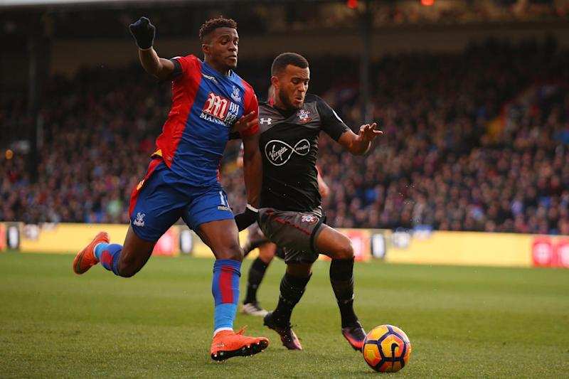 Flying high: Wilfried Zaha: Getty Images