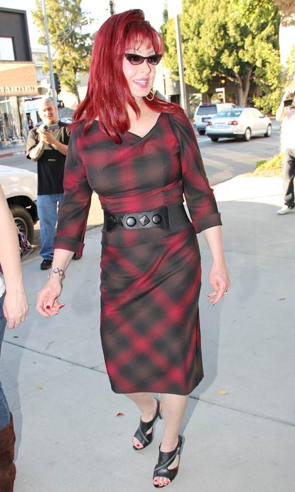 "Speaking of catastrophic coifs, check out the disastrous 'do (and matching dress!) Naomi Judd wore during a recent shopping spree in Beverly Hills. Walsh/<a href=""http://www.x17online.com"" target=""new"">X17 Online</a> - December 13, 2010"