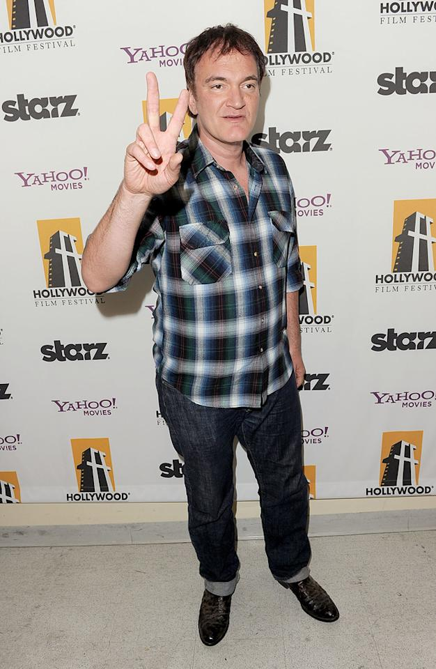 """<a href=""""http://movies.yahoo.com/movie/contributor/1800021942"""">Quentin Tarantino</a> at the 15th Annual Hollywood Film Awards in Beverly Hills, California on October 24, 2011."""