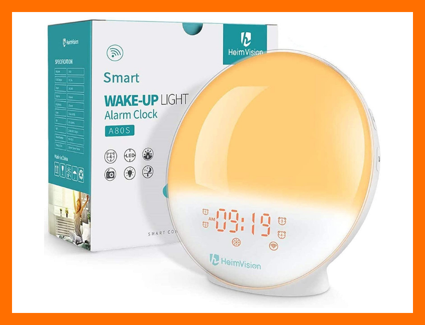 Rise and shine! This HeimVision Sunrise Alarm Clock is on sale for only $38. (Photo: Amazon)