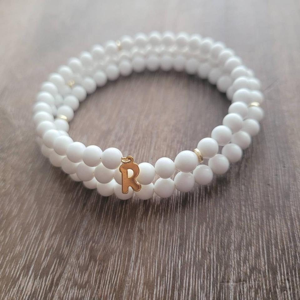 <p>Gift this <span>Esh Jewelry Personalized Pearl Bracelet</span> ($48) to your BFF.</p>