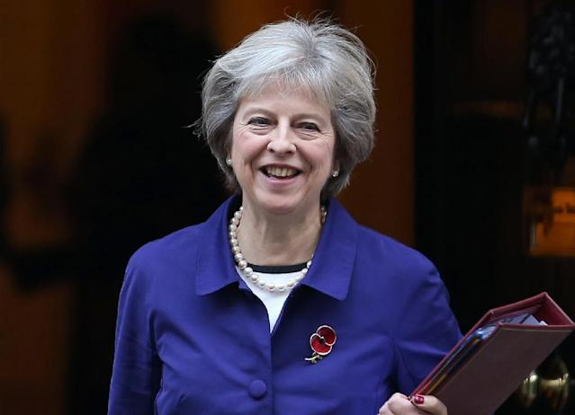 British Prime Minister Theresa May, seen November 2, 2016, said last month that the UK would no longer accept the free movement of people to and from the EU on Brussels' terms, and also pledged to repatriate legal powers (AFP Photo/Daniel Leal-Olivas)