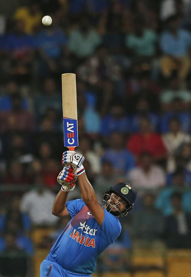 <p>3 – sixes hit by Suresh Raina in a powerplay, the second most by an Indian in a powerplay. Virender Sehwag hit four sixes in a T20I against New Zealand in 2009. </p>