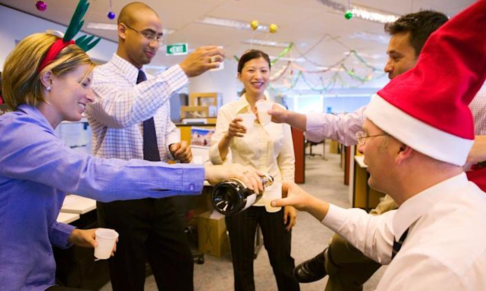 "<span class=""element-image__caption"">The drop in workplace holiday parties can be attributed to concerns about inappropriate behavior.</span> <span class=""element-image__credit"">Photograph: Getty Images</span>"