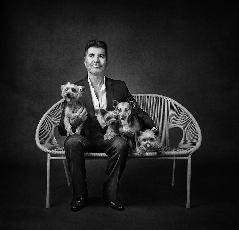 Simon Cowell with Squiddly, Diddly, Freddy and Daisy