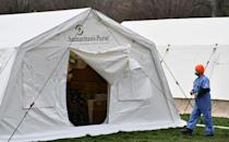 In New York City, the epicentre of the US outbreak, an emergency field hospital erected in Central Park is set to close, as virus cases decline in the city (AFP Photo/Angela Weiss)