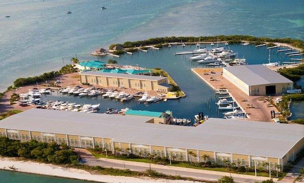 An aerial view of Key West Harbour.