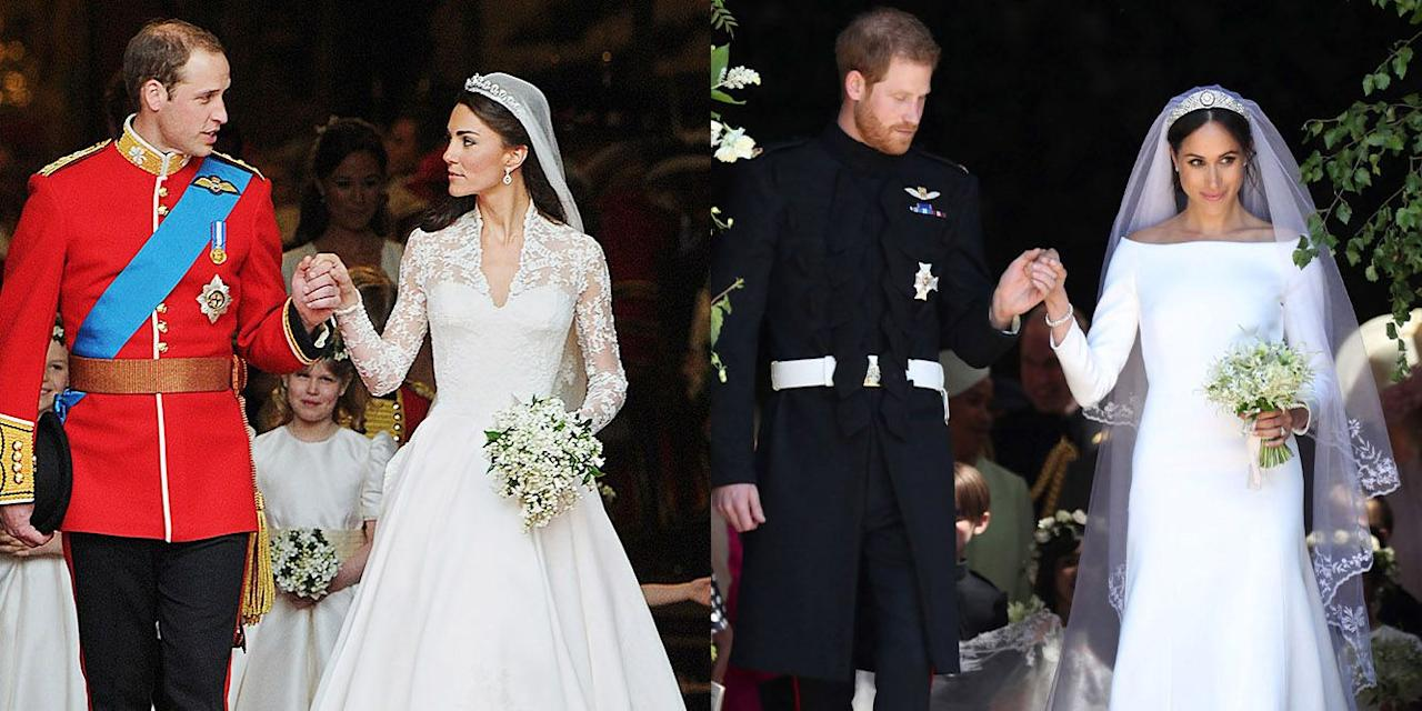 "<p>In advance of Prince Harry and Meghan Markle's first wedding anniversary, we're taking a look back at their royal wedding, and how it compared to when <a href=""https://www.townandcountrymag.com/the-scene/weddings/g20052313/kate-middleton-prince-william-royal-wedding-2011-photos/"" target=""_blank"">Prince William wed Kate Middleton back in 2011</a>. Here's how the two celebrations were alike, and how they differed.</p>"