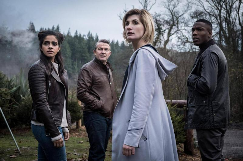 Yaz (Mandip Gill), Graham (Bradley Walsh), the Doctor (Jodie Whittaker) and Ryan (Tosin Cole) (BBC Studios)