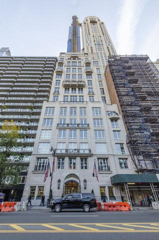 The exterior of 220 Central Park South is pictured. Photo credit: Compass.