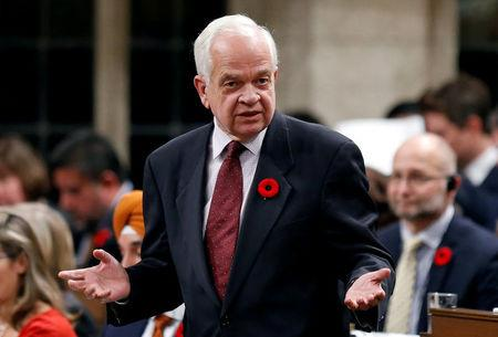 Canada's Immigration Minister John McCallum speaks in the House of Commons in Ottawa
