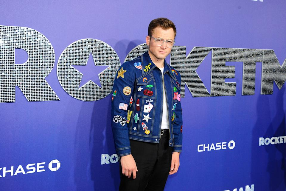 """NEW YORK, NY - MAY 29: Taron Egerton attends """"Rocketman"""" US Premiere at Alice Tully Hall, Lincoln Center, NYC on May 29, 2019 in New York City. (Photo by Paul Bruinooge/Patrick McMullan via Getty Images)"""