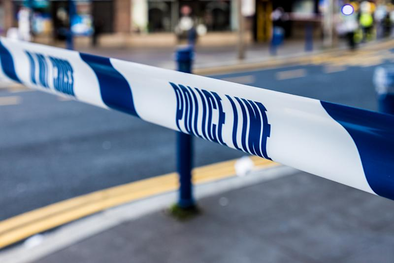 Enfield, london. June 2018. A view of a police line ribbon in london.
