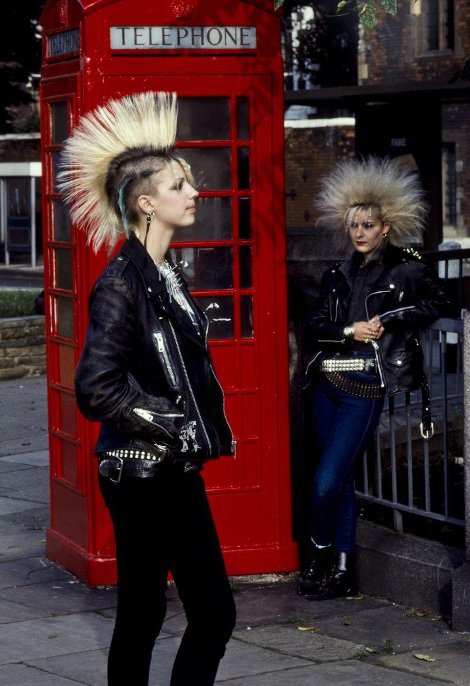 <p>Piercings and leather and mohawks, oh my!</p>