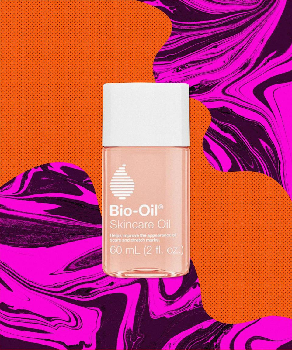 "You don't necessarily have to have scars or stretch marks for Bio-Oil to work its magic. The must-have body oil is lightweight, non-greasy, and improves the overall elasticity and appearance of your skin. So even if you don't have skin blemishes, this oil will act as a protectant ensuring that your skin's outer layer is strong and can quickly bounce back.<br><br><strong>Bio-Oil</strong> Skincare Oil, $, available at <a href=""https://go.skimresources.com/?id=30283X879131&url=https%3A%2F%2Fwww.ulta.com%2Fskincare-oil%3FproductId%3DxlsImpprod1800041"" rel=""nofollow noopener"" target=""_blank"" data-ylk=""slk:Ulta Beauty"" class=""link rapid-noclick-resp"">Ulta Beauty</a>"