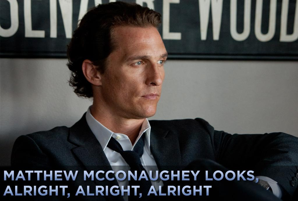 """In his personal life, Matthew McConaughey seemingly has one look: long hair, no shirt. But in the movies, he's had a wide variety of styles. In this weekend's """"<a href=""""http://movies.yahoo.com/movie/1810088161/info"""">The Lincoln Lawyer</a>,"""" he sports the slicked-back hair and dark suits of a shady Los Angeles litigator. Click ahead to see some of his other memorable movie appearances."""