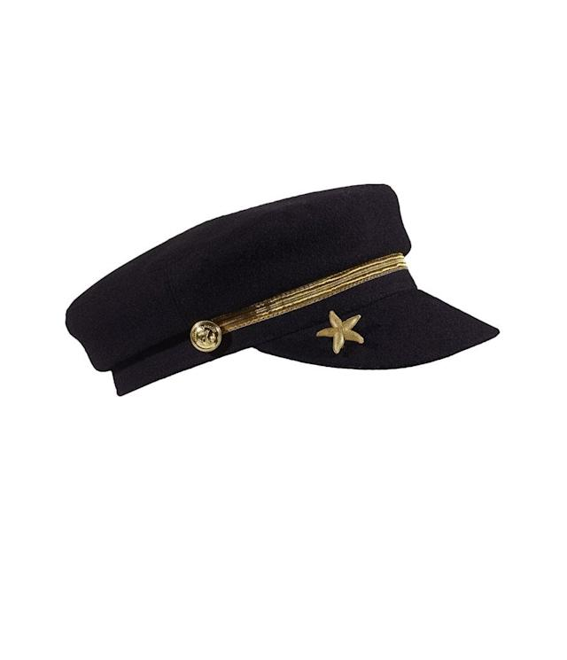 "<p>Star-pin sailor cap, $75, <a href=""https://www.scotch-soda.com/us/en/women/all-clothing/star-pin-sailor-cap/140952.html?cgid=1047&utm_campaign=J84DHJLQkR4&sz=36&utm_medium=Affiliate&start=28&siteID=J84DHJLQkR4-QvjxKuQUyOx_8v9mxAb5gw&dwvar_140952_color=Black&utm_source=LinkShare_US&utm_content=10"" rel=""nofollow noopener"" target=""_blank"" data-ylk=""slk:scotch-soda.com"" class=""link rapid-noclick-resp"">scotch-soda.com</a> </p>"