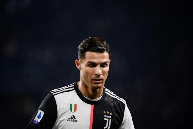 Juventus' Portuguese forward Cristiano Ronaldo leaves the pitch after being substituted for the second game in a week. (AFP Photo/Marco Bertorello)