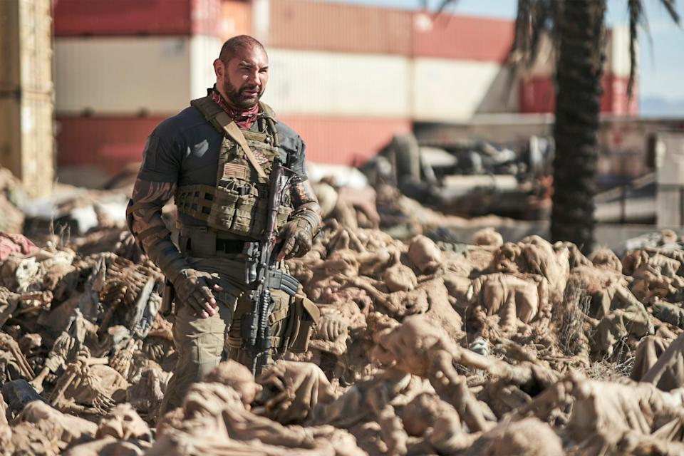 Scott Ward (Dave Bautista) saved the secretary of defence and received the presidential medal of freedom, but still spends his days flipping burgersClay Enos/Netflix