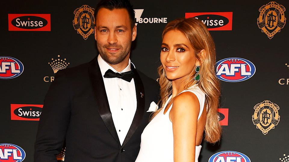 Jimmy and Nadia Bartel, pictured here at the Brownlow Medal ceremony in 2018.