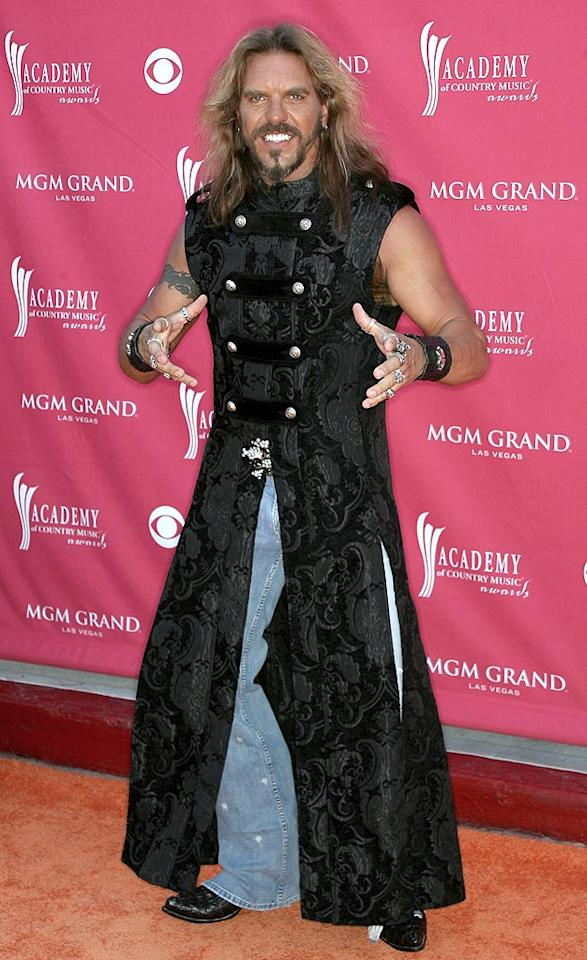 "What do you get when you cross a viking with a samurai? A Wolf. The American Gladiator, aka Don ""Hollywood"" Yates, sported this questionable ensemble on the red carpet and immediately won our award for Worst Dressed Celeb of the Week. Frederick M. Brown/<a href=""http://www.gettyimages.com/"" target=""new"">GettyImages.com</a> - May 18, 2008"