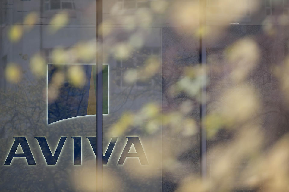 """British insurance giant Aviva's headquarters are pictured in London, on October 5, 2009. British insurance giant Aviva announced plans on Monday for a partial stock market flotation of its Dutch subsidiary, Delta Lloyd, on Euronext Amsterdam next month. """"Aviva plc and Delta Lloyd confirm their intention to proceed with a listing and initial public offering (IPO) of Delta Lloyd on Euronext Amsterdam, subject to market conditions,"""" a statement read. AFP PHOTO/Ben Stansall (Photo credit should read BEN STANSALL/AFP via Getty Images)"""