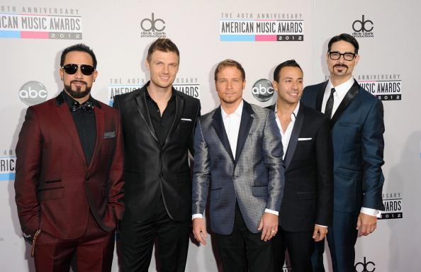 Backstreet Boy's A.J. McLean, Howie Dorough, Brian Littrell, Nick Carter, and Kevin Richardson