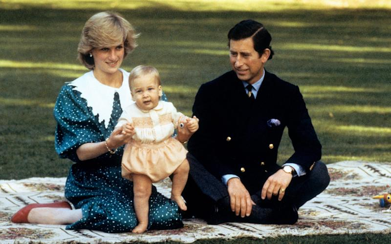 Princess Diana, Prince Charles and a young Prince William - Credit: PA