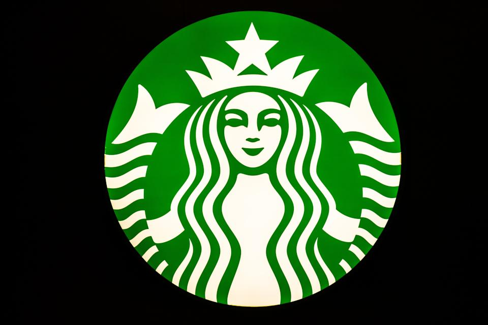 SHANGHAI, CHINA - 2020/01/12: American coffee company and coffeehouse chain Starbucks logo seen in Shanghai. (Photo by Alex Tai/SOPA Images/LightRocket via Getty Images)