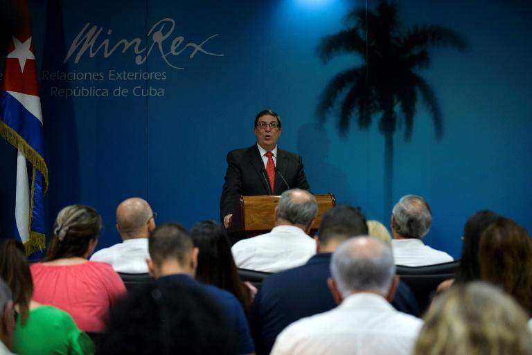 Cuba's foreign minister Bruno Rodriguez, pictured in September, described accusations of meddling as malicious