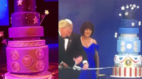 Trump's inaugural ball cake looked suspiciously like Obama ...