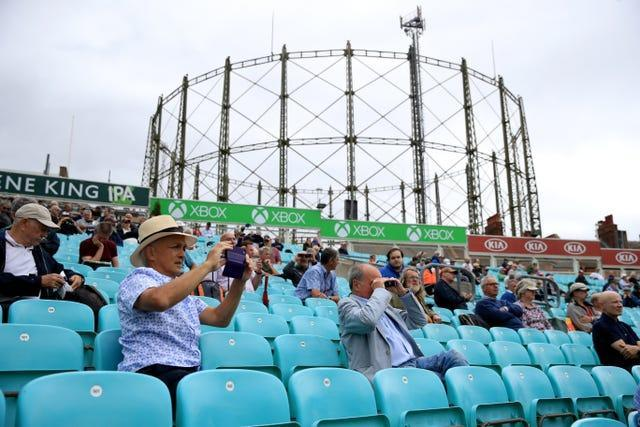 Cricket fans at the Surrey v Middlesex friendly last July