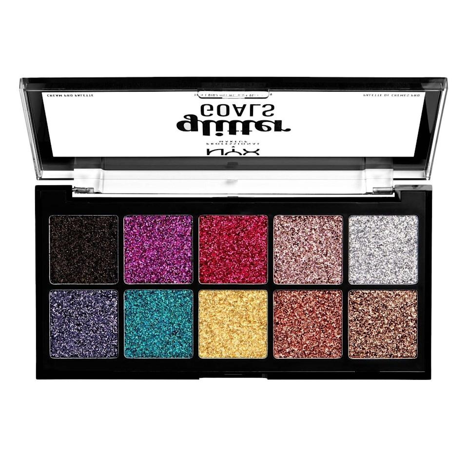 <p>They'll be able to create the most extra eye looks with this <span>NYX Professional Makeup Glitter Goals Cream Pro Eye Shadow Palette</span> ($25). The glitters are in a cream base so it's best to apply with fingers or a silicone applicator.</p>