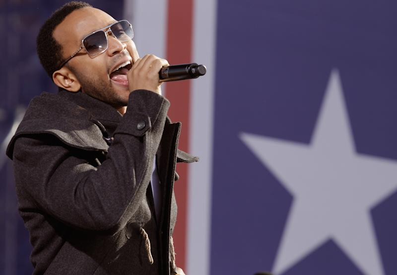 John Legend performs at the Comedy Central 'Rally to Restore Sanity And/Or Fear' on the National Mall in Washington D.C.. (Photo: Chip Somodevilla/Getty Images)
