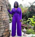 <p>wears a vibrant purple custom Christian Siriano jumpsuit, Neil Lane jewelry and Stuart Weitzman shoes to accept her win for best supporting actress for her role as boundary breaking American politician Shirley Chisholm in <em>Mrs. America</em>. </p>