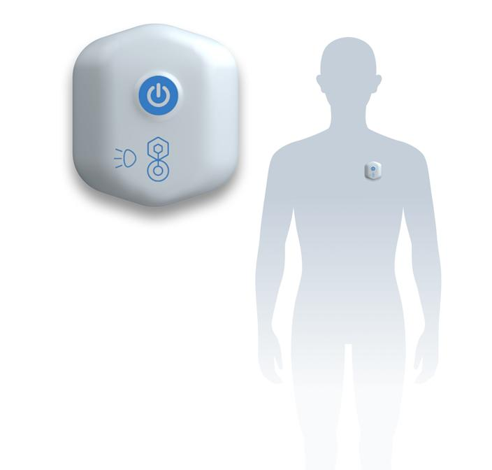 The BioButton is worn by the user and connected to an app on a smartphone. It constantly measures heart rate and temperature, among other things. Students at Oakland University are being encouraged to wear BioButtons, which track vital signs, in an effort to keep students healthy and stop COVID outbreaks.