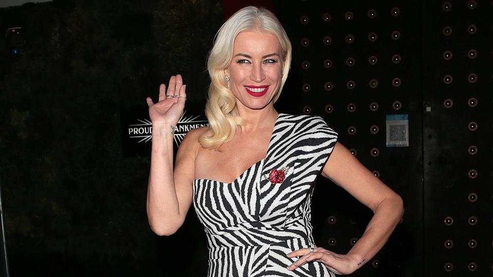 Denise Van Outen joked that naked dining may well be on the menu during her new podcast with partner Eddie Boxshall (Image: Getty Images)