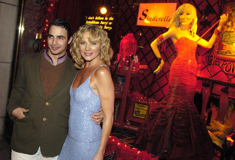 Zac Posen and Kim Cattrall at the unveiling of Sex and the City-themed holiday windows in 2003