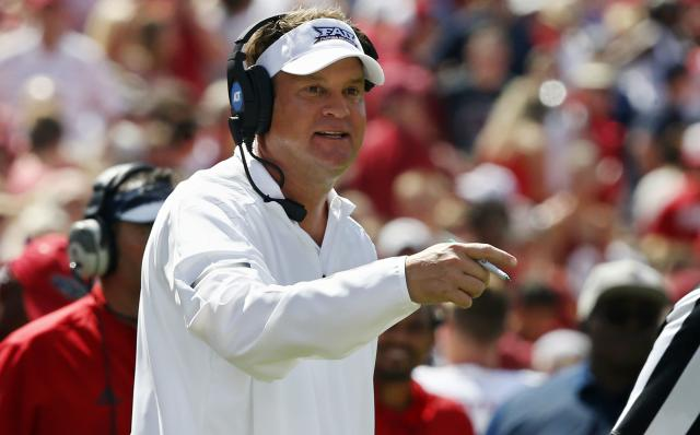 Lane Kiffin hasn't been on the national radar at Florida Atlantic this season. (AP)