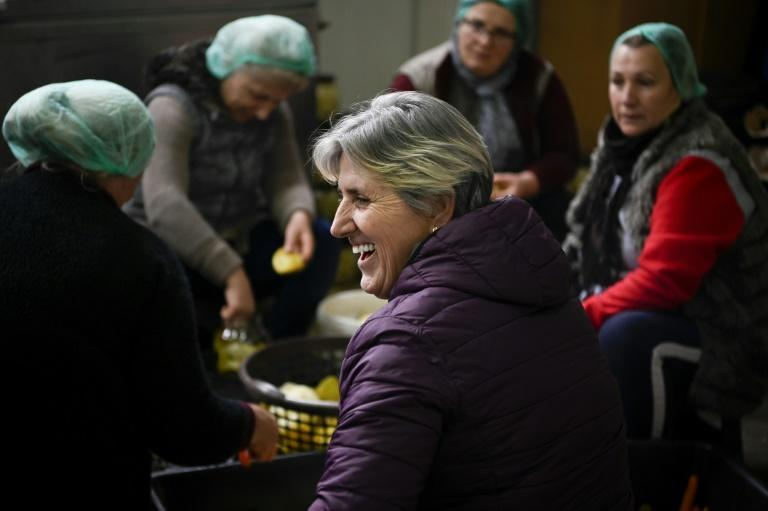 Fahrije Hoti hires almost only women to work at the Krusha cooperative in southwestern Kosovo