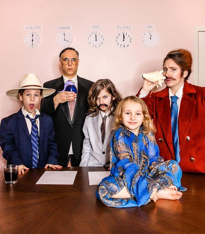 """<p>Stay classy with a tribute to Ron Burgundy, Brian Fantana, and the rest of the San Diego KVWN channel 4 news crew. Don't forget the mustaches! </p><p><strong>See more at <a href=""""https://www.instagram.com/p/CJfWjxnjOGI/"""" rel=""""nofollow noopener"""" target=""""_blank"""" data-ylk=""""slk:@meganzietz"""" class=""""link rapid-noclick-resp"""">@meganzietz</a>. </strong></p><p><a class=""""link rapid-noclick-resp"""" href=""""https://www.amazon.com/MOGU-Suits-Slim-Size-Label/dp/B07T6LQW3F/ref=sr_1_5?dchild=1&tag=syn-yahoo-20&ascsubtag=%5Bartid%7C10050.g.32906192%5Bsrc%7Cyahoo-us"""" rel=""""nofollow noopener"""" target=""""_blank"""" data-ylk=""""slk:Shop Red Suits"""">Shop Red Suits</a><br></p>"""