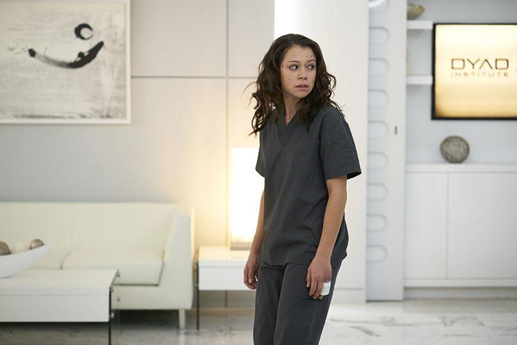Tatiana Maslany as Sarah Manning in BBC America's Orphan Black. (Photo Credit: Ken Woroner/BBC America)