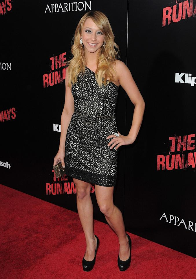 """<a href=""""http://movies.yahoo.com/movie/contributor/1809677483"""">Stella Maeve</a> at the Los Angeles premiere of <a href=""""http://movies.yahoo.com/movie/1810129048/info"""">The Runaways</a> - 03/11/2010"""