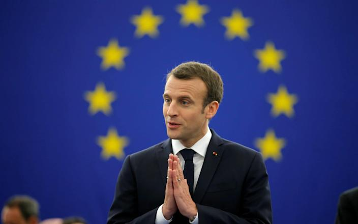 The French president addressed the European Parliament, laying out his vision for the future of the continent - REUTERS