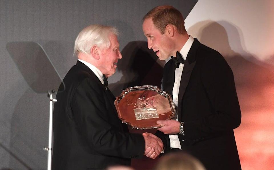 The Duke of Cambridge consulted naturalist Sir David Attenborough for his Earthshot Prize initiative (Stuart C Wilson/PA) (PA Archive)