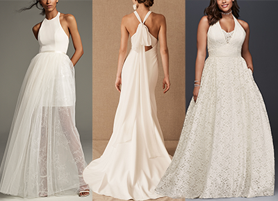 20 Halter Top Wedding Dresses We D Actually Do Push Ups For