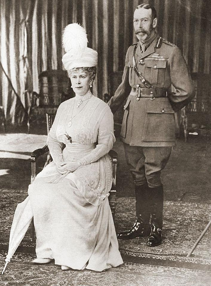 <p>King George V and Queen Mary celebrate their silver anniversary. They married July 6, 1883.</p>