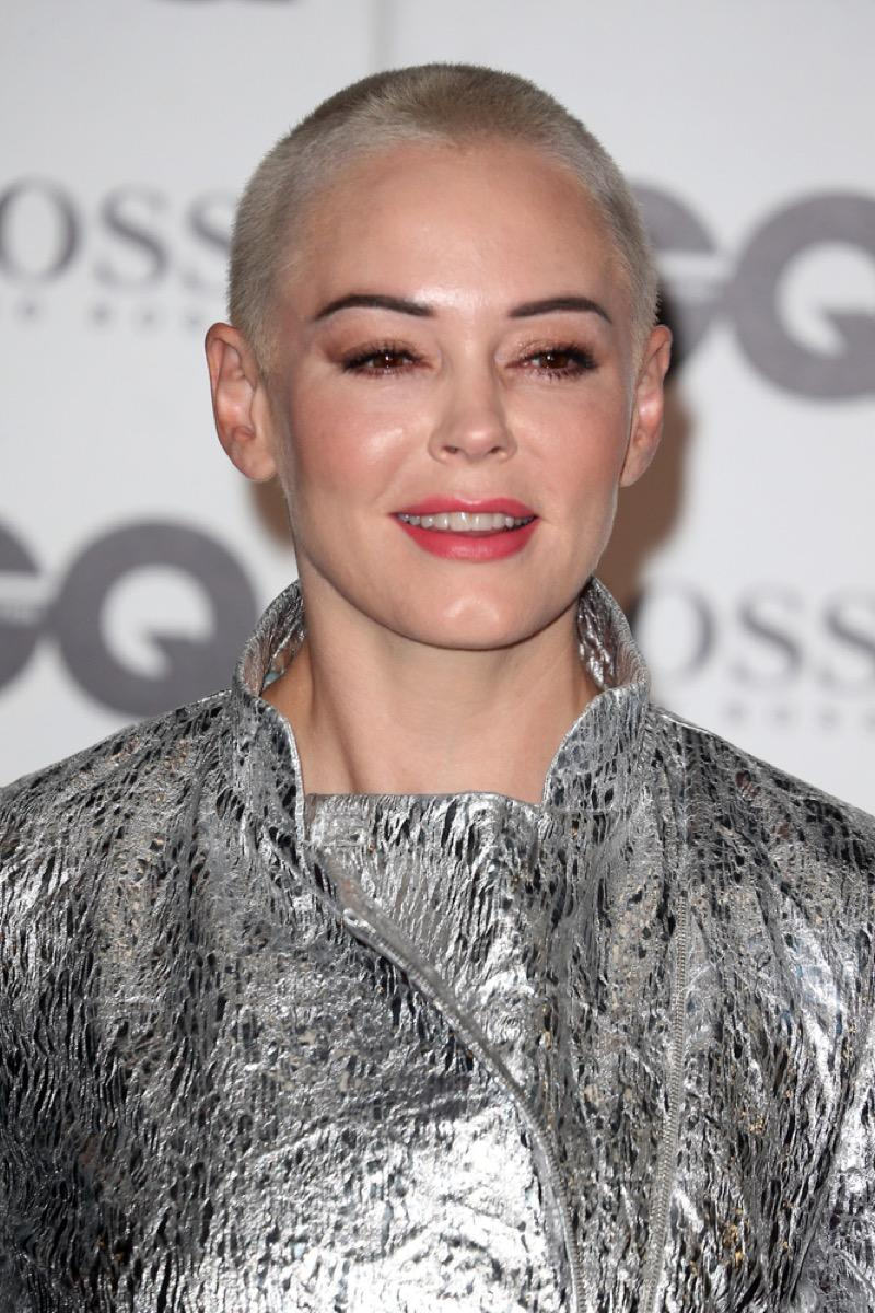 rose mcgowan on the red carpet