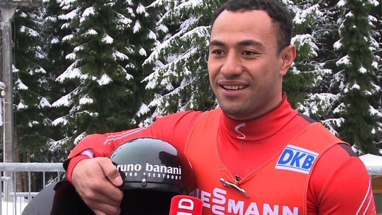 "SCRIPT: Bruno Banani is not your typical Olympic contendor. The 26-year-old former IT student comes from the tropical archipeligo of Tonga in the South Pacific Ocean. Introduced to the icy winter sport of luge in 2008 as part of a publicity stunt, he's the island nations's first Winter Olympian.  SOUNDBITE 1 Bruno Banani (man), Tongan luger (English, 8 sec):  ""I cannot explain how happy I am because it has been my goal for the past five yeras and I'm so happy that I've made it now to the Olympics."" But the athlete is a controversial Olympian. In order to find the financing to get onto the luge circuit, he changed his name to that of his sponsor, a German underwear company. Banani's played down criticism over the move which the International Olympic Committee has described as ""in bad taste"".  SOUNDBITE 2 Bruno Banani (man), Tongan luger (English, 12 sec): ""I don't really think it's something big now. I think most people I'm with, they don't really care about the name, they're just happy by how good I am in coming along with the luge."" A rugby union fan, Banani, took part in a national contest to become a luger and against the odds qualified for the Sochi Games a few years later. He now trains alongside the German team and he hopes for a top-30 finish in Sochi. But whatever the placement, he's already fulfilling the dream of a Tongan princess who reportedly dreamt of creating a national luge team after a visit to Switzerland.  SHOTLIST: ALTENBERG, GERMANY, JAN 2014 SOURCE: AFPTV/SID - Various shots of Banani walking towards the luge track during a training session - Various shots of Banani SOUNDBITE 1 Bruno Banani (man), Tongan luger (English, 8 sec):  ""I cannot explain how happy I am because it has been my goal for the past five yeras and I'm so happy that I've made it now to the Olympics."" - Various shots of Banani cleaning his luge - Various shots of Banani talking to a member of the German luge team SOUNDBITE 2 Bruno Banani (man), Tongan luger (English, 12 sec): ""I don't really think it's something big now. I think most people I'm with, they don't really care about the name, they're just happy by how good I am in coming along with the luge."" - Shot of Banani talking to a journalist - Medium shot of Banani leaving the luge track --------------- AFP TEXT STORY: Oly-2014-TGA-Banani  Olympics: Brief encounter for Tongan underwear man  by Alexandre FEDORETS  ROSA KHUTOR, Russia, Feb 6, 2014 (AFP) - Tongan luger Bruno Banani -- who changed his name to that of a German underwear manufacture for a publicity stunt -- said it is an ""amazing feeling"" to be his country's first ever Winter Olympian.  The 26-year-old took to the track at Rosa Khutor on Thursday for a practice run and enjoyed the experience despite making some mistakes.  ""It's amazing, just a great feeling,"" he said. ""I just can't explain how happy I am to get to the Olympics.  ""It's just unbelievable to be a kind of sports ambassador of my country at the Games. Whenever I go back I'll tell people in my country how great it is and maybe some of them will join me in this sport.  ""The track profile here is good and the ice is very fast,"" added the Pacific islander, who is targeting a top-30 finish at the Sochi Games.   Banani, who hails from a tropical archipelago famed for its sunshine and white sandy beaches, had an unlikely introduction to the icy winter sport when he was plucked from obscurity in 2008 and coaxed into taking up luge as part of a marketing campaign.  At the time he was an information technology student named Fuahea Semi whose sporting passion, like most in Tonga, was rugby union.  A marketing company persuaded him to change his name to Bruno Banani, which is the name of a German underwear maker, and become part of the luge circuit as a publicity stunt -- and he managed to qualify for the Sochi Games.  The similarity in names was passed off as a coincidence and, after undergoing training in Germany, Banani began appearing at luge events, wearing the company's gear with a logo reading ""coconut powered"".  The ploy was exposed by Germany's ""Der Spiegel"" in February 2012 after suspicions were raised by the naming coincidence and the media-shy Banani's reluctance to answer questions about his background.  Thomas Bach, now the International Olympic Committee (IOC) president, said at the time the move was a ""perverse"" marketing idea.  ""It is of bad taste to change your name to that of a sponsor. That is too much for me. This has nothing to do with proper marketing,"" he said.  The inspiration for the stunt was reportedly the unfancied Jamaican bobsleigh team that defied the odds to compete at the 1988 Calgary Olympics, depicted in the Hollywood comedy ""Cool Runnings"".  The son of a coconut farmer, who had never seen snow, Banani said he previously knew nothing about luge.  ""There was a little contest. They said it's dangerous and fast,"" he said. ""That's why I wanted to try it. I love speed. I had to overcome about 20 opponents to win the contest and to become the luger.  ""Finally the coach has chosen me. And I'd say I was right to chose luge as I feel fun at every moment of sliding.""  Banani is practising in Sochi with the German national team.  ""It has helped me a lot in every aspect,"" he said. ""I've learned everything from them -- how to slide down right and how to prepare the sledge, just everything. That was a really precious experience.""  af/jw/dj"